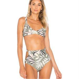 MinkPink shady fronds high waisted bikini set